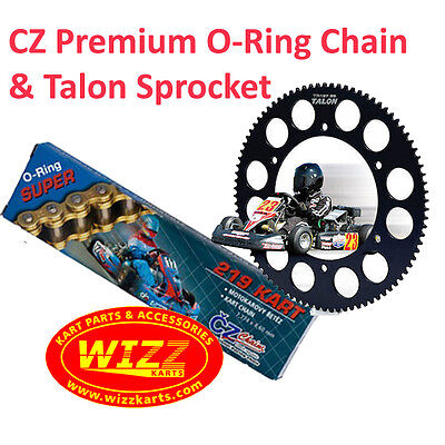 98 Link CZ O-Ring Chain and 219 Talon Sprocket Offer WIZZ KARTS