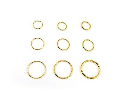 18k Gold Plated Nose Ring Septum Hoop Cartilage Tragus Helix Eyebrow Ear Cuff