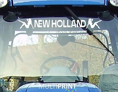 NEW HOLLAND Tractor Sunstrip Sunvisor Decal Vinyl Sticker - FREE POST - NEW1