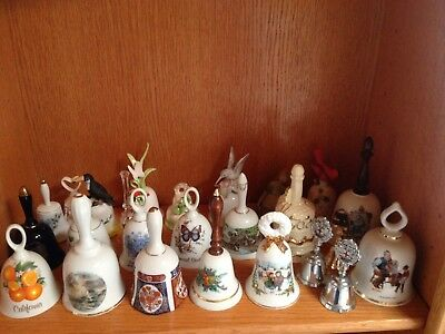 Vintage Collectible Bells Assorted Lot of 25, Rockwell, Domine, Avon, and Bayel