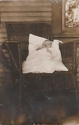 Vintage Real Picture PostCard RPPC Baby Infant ANTIQUE early 1900's