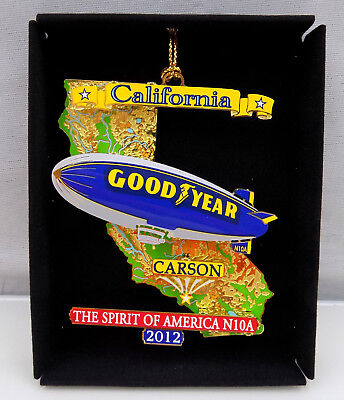 Goodyear Blimp Spirit of America N10A Carson California Ornament SS06