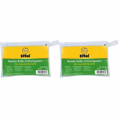 Effol Non-Snap Plaiting Bands (400 Pack) (TL674)