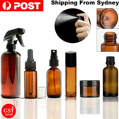 5/10/20X Amber Roller Glasses Spray Bottles Roller Dropper Essential Oil Bottles