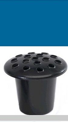 4x Black Plastic Memorial Grave Pots Replacement Insert Cemetery Vases With Lid