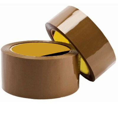 12 Rolls Brown Strong Parcel Carton Tape Packing Packaging 48mm x 66m