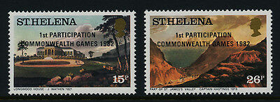 St Helena 376-7 MNH Art, Architecture, Commonwealth Games o/p
