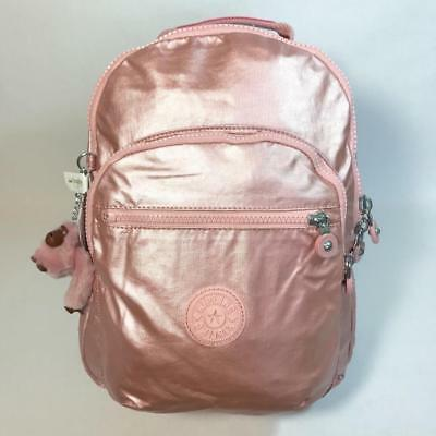 KIPLING SEOUL Small Backpack with Laptop Protection Icy Rose Metallic