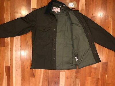 NEW Filson Insulated Jac Shirt Jacket Cover Cloth XS Extra Small USA MADE $275