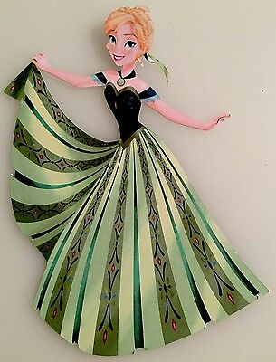 Frozen Inspired Anna Print & Cut Die Cut Embellishment Handmade With Card Stock