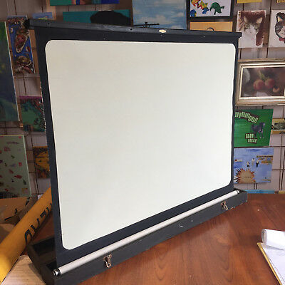 vintage original antique film projector screen pull up and down portable