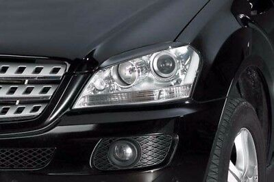 W164 EYELIDS EYEBROWS Fits: Mercedes ML320 ML350 ML500 ML63 spoiler headlight...