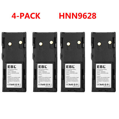 4x EBL D Size Battery Spacers Converter for AA Ni-MH/Ni-CD Rechargeable Battery