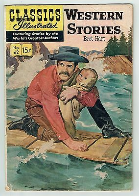 CLASSICS ILLUSTRATED #62 WESTERN STORIES by Bret Hart - August 1949 - VG