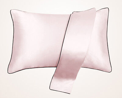 HIGH QUALITY 100% Mulberry Silk Pillowcase Thick Sakura pink