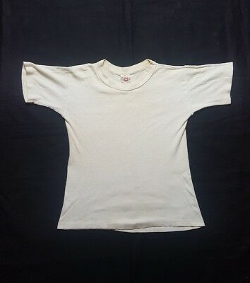 VINTAGE 50S HANES WINTER SETS t shirt youth M 10-12 USA Made DISTRESSED