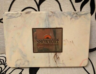 Vintage Showboat Casino Atlantic City NJ Bakelite Marble Color Case/Box