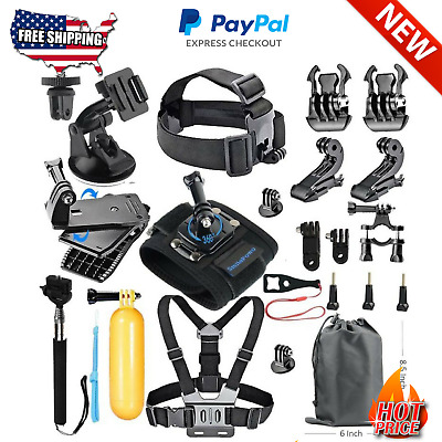 Sports Action Cam Gopro Camera Accessory Kit Hero 5 Rotating Backpack Clip Mount