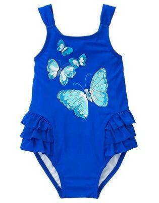 NWT Gymboree Girls Butterfly Swimsuit Toddler UPF 50+ 2T,3T,4T,5T
