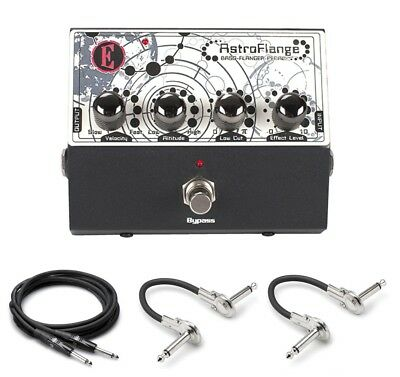 New Eden Astroflange Bass Flanger Effects Pedal Free Hosa Cables