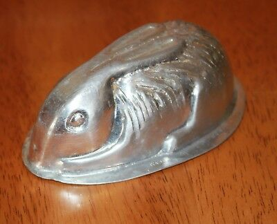 vintage EASTER BUNNY MOULD Nutbrown England metal marshmallow rabbit vgvc