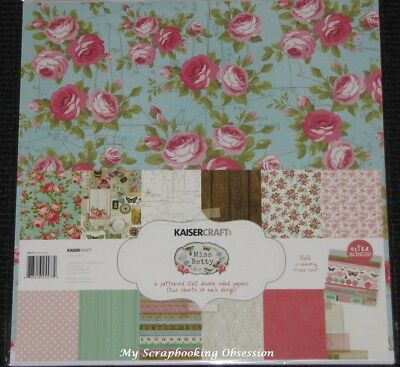 "Kaisercraft 'MISS BETTY' 12x12"" Paper Pk + Stickers Floral/Flowers KAISER 02/18"