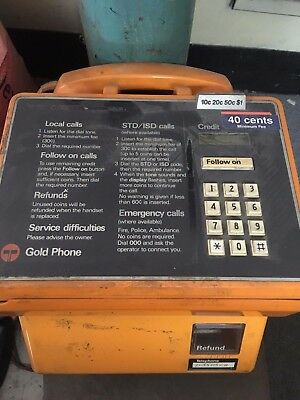 Payphone Pay Phone Gold Vintage