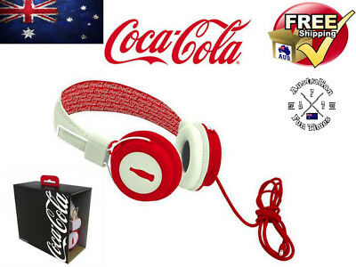 Official Coca Cola Coke Red & White Headphones Great Gift Limited Edition QLD