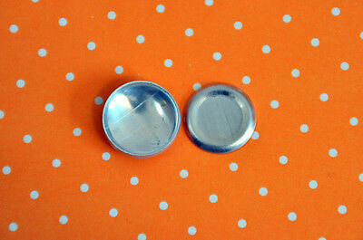 DIY 100 x self cover metal flat back buttons size 30 (19mm)