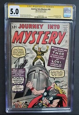 Journey Into Mystery #85 • 1St Loki • Cgc 5.0 Signed By Stan Lee • Infinity War