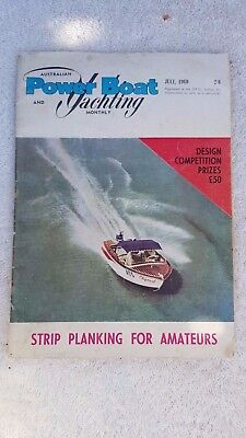 Vintage Collectable Power Boat Yachting Monthly Magazine July 1960 Memorabilia