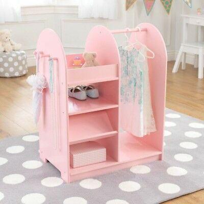 Bon Kidkraft 12510 Kids Letu0027s Play Dress Up Storage Unit W/Shelves U0026 Mirror  Pink NEW