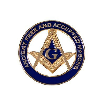 Masonic Square and Compass AF&AM Lapel Pin