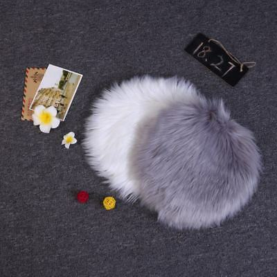 Fluffy Faux Fur Rug Small Round Carpet Soft Shaggy Home Bedroom Rug Floor Mat