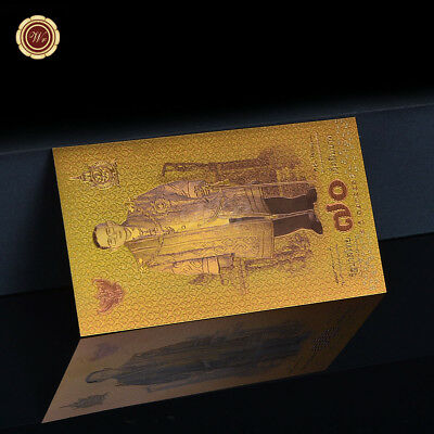 WR Thailand GOLD Banknote 2016 70 Baht 70th Years Reign of King Limited Collect