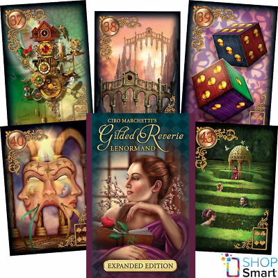 Gilded Reviere Lenormand Oracle Deck Cards Ciro Marchetti Esoteric Telling New