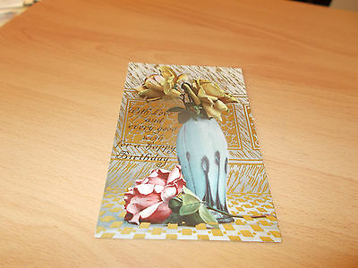 1920s POST CARD VINTAGE WITH LOVE AND EVERY GOOD WISH FOR A HAPPY BIRTHDAY.