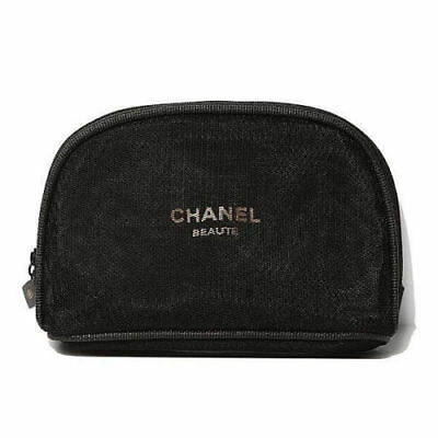 28524c1b337d NIP Chanel Mesh CC Small Cosmetic Makeup Pouch Bag Case Free Postage w  Tracking