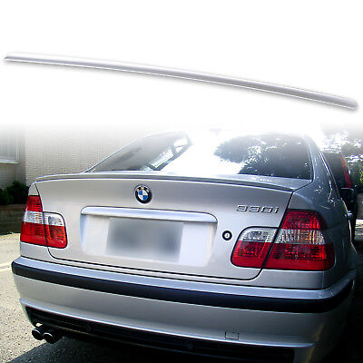 Painted Boot Lip Spoiler For BMW 3 Series E46 Saloon 98 - 05 354 Titan Silver