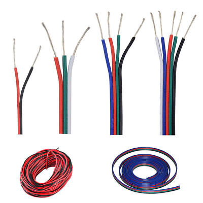2 3 4 5 pin RGB RGBW extension cable cord Led power pixel wire 22AWG 1m-100m