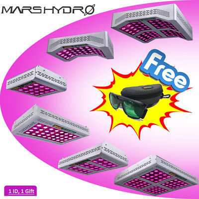 MarsHydro Pro II Epistar Cree LED Grow Light Veg Bloom Plant Garden Free Glasses