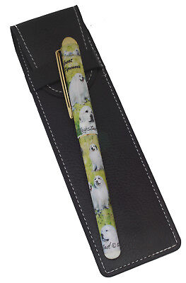 Great Pyrenees Breed of Dog Themed Pen with Pen Case Perfect Gift