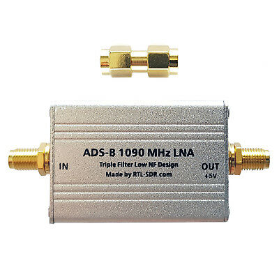 RTL-SDR Blog ADS-B Triple Filtered LNA (Bias Tee Powered)