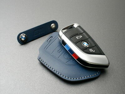 Handmade Premium Italy Leather Smart Remote car Key case For BMW X, 5, 7 Series