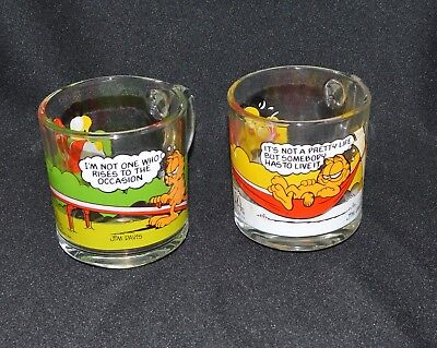 2 Vintage McDonalds Collectible Glass Mugs 1980's Pretty Life Rises to Occasion