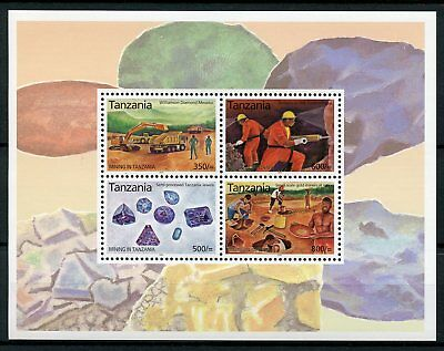 Tanzania 2004 MNH Mining 4v M/S Jewels Gold Williamson Diamond Mwadui Stamps