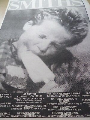 "The Smiths Advert ""smiths Tour 1986""  Full Page  A3 From 1986"