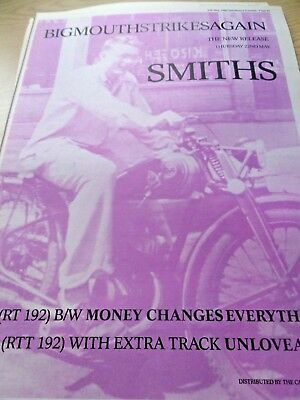 "The Smiths Advert ""big Mouth Strikes Again""  Full Page  A3 From 1986"