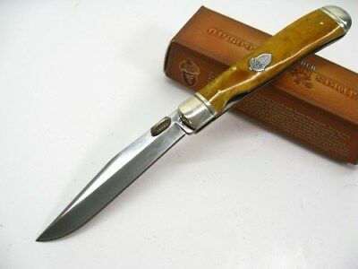 ROUGH RIDER Tobacco Bone TRAPPER Liner LOCK Folding Pocket Knife RR1131 New!