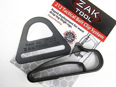 "Zak Tool Tactical Rapid Deployment Leg Drop Belt Clip System For 2.25"" Duty Belt"